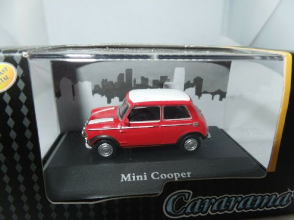 Cararama 7-80070 1/72 Scale Leyland Mini Cooper Red c/w White Roof & Stripes